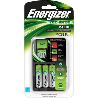 Energizer CHVCMWB-4 Value Charger With 4 AA Batteries