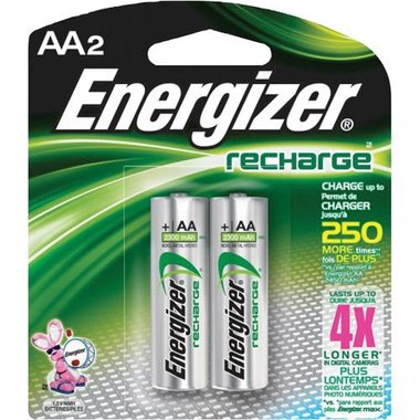 Energizer NH15BP2 2 Pack AA Rechargeable Batteries