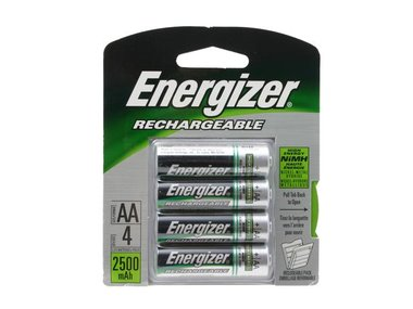 Energizer NH15BP4 4 Pack AA NiMH Rechargeable Batteries