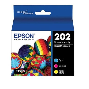 Epson T202520-S T202 Claria Standard-Capacity Ink Cartridge Multi-Pack - Color (CMY)