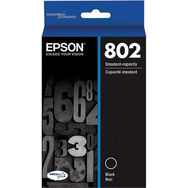 Epson T802120-S Black DURABrite Ultra Standard-Capacity Ink Cartridge