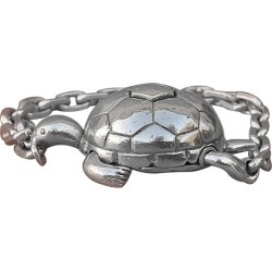 Exceptional Herm�s Secret Mechansim Turtle Key Ring Or Charm In Silver