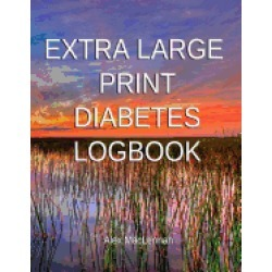 extra large print diabetes logbook blood glucose and insulin