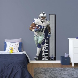 """Ezekiel Elliott for Dallas Cowboys: Growth Chart - Officially Licensed NFL Removable Wall Decal 41.0""""W x 74.0""""H by Fathead 