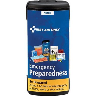 First Aid Only 91109 Emergency Preparedness Grab-And-Go Pod