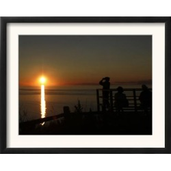 Framed Art: Peterson Park Overlook in Northport, Mich, 16x20in.