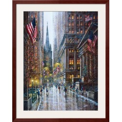 Framed Art Print: Dessapt's Wall Street, 39x31in.