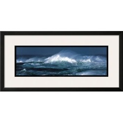 Framed Art Print: Plisson's Coup de Vent, 15x30in.