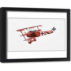 Framed Print. 25-29 Years, Aggression, Caucasian Appearance, Conflict, Cross, Flying, Fokker, Full Length