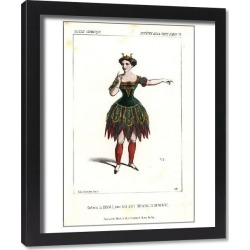 Framed Print. Actress in costume as the Diable (devil) in