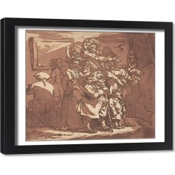 Framed Print. An Exhibition, January 29, 1776., January 29, 1776. Creator: Philip James de Loutherbourg