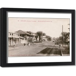 Framed Print. Boulevard du Commerce in Conakry, Guinea