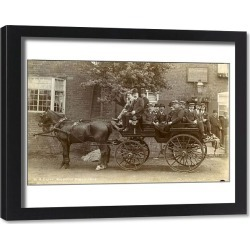 Framed Print. Carriage and Horses
