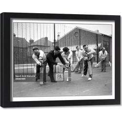 Framed Print. Cricket Coaching