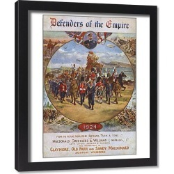 Framed Print. Defenders of the Empire - British Military Might
