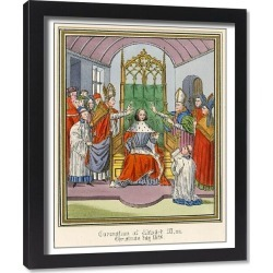 Framed Print. EDWARD III CORONATION