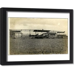 Framed Print. Extreme Biplane Comparison, Airfield, Germany