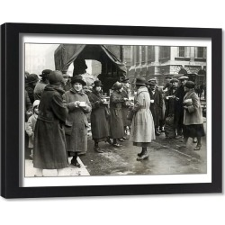 Framed Print. Food Queues in London owing to shortages