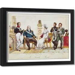 Framed Print. French Royal Family in 1814. The Count of Artois