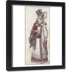 Framed Print. Going Out In 1818