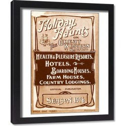 Framed Print. Holiday Haunts guide book, 1906