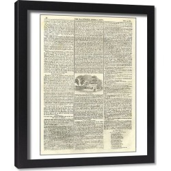 Framed Print. Illustrated London News, 12th July 1845, page 2