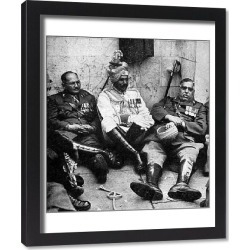 Framed Print. Indian officers resting after the 1937 Coronation
