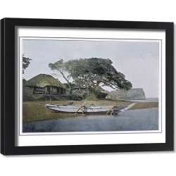 Framed Print. Japanese Fishing Boat