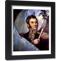 Framed Print. Jose de San Martin (1777-1850), Argentine general and politician, architect of of