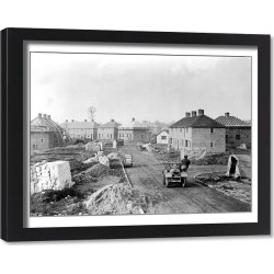 Framed Print. Londons First Really Permanent Houses, 1st February 1946 The first four of London's