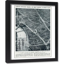 Framed Print. Londons increased traffic in 1936