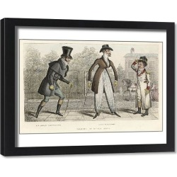 Framed Print. MALE TYPE/2 DANDIES