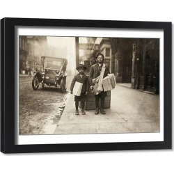 Framed Print. NASHVILLE: NEWSBOYS, 1910. Two newboys selling newspapers in Nashville, Tennessee