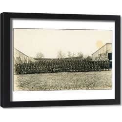 Framed Print. No.2 Squadron on a German aerodrome in 1918