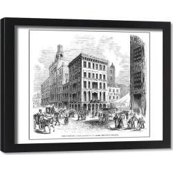 Framed Print. PHILADELPHIA: THIRD STREET. View of Third Street in Philadelphia, Pennsylvania