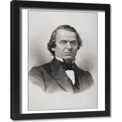Framed Print. Portrait of Andrew Johnson (1808-75) (litho)
