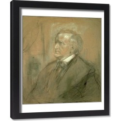 Framed Print. Portrait of Richard Wagner (1813-83) 1868 (pencil and charcoal heightened with white)