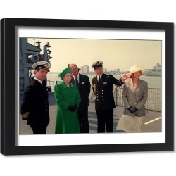Framed Print. Queen Elizabeth II and Prince Philip in Portsmouth
