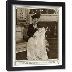 Framed Print. Queen Mary with Prince Charles