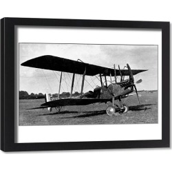 Framed Print. Royal Aircraft Factory BE 2E seen in final version