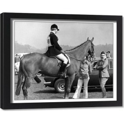 Framed Print. Royalty - Queen and Princess Anne - Windsor Great Park