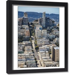 Framed Print. San Francisco, California. USA. A view of residential streets in San Francisco