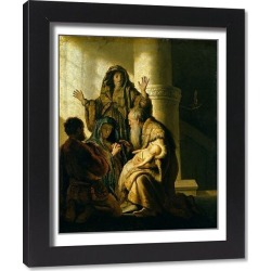 Framed Print. Simeon and Hannah in the Temple, c.1627 (oil on panel)