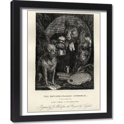 Framed Print. The Bruiser (Caricature of Charles Churchill) by