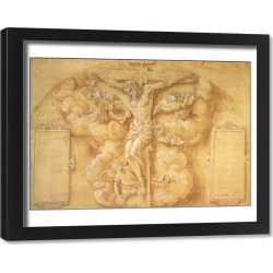 Framed Print. The Crucifixion, 1547 (pencil heightened with white on paper)