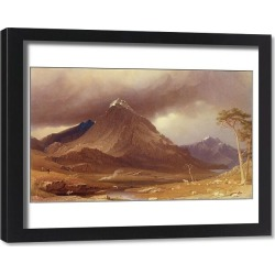 Framed Print. Tryfan, Carnarvonshire (w/c heightened with white on paper)