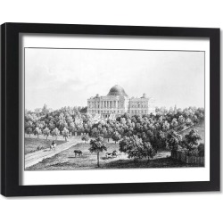 Framed Print. U.S. CAPITOL, 1848. West view of the United States Capitol