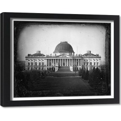 Framed Print. U.S. CAPITOL, c1846. View of the east front elevation of the United States Capitol in Washington