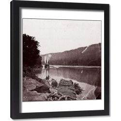 Framed Print. U.S. Transport in Rapids, Tennessee River/The Suck - Tennessee River below Chattanooga
