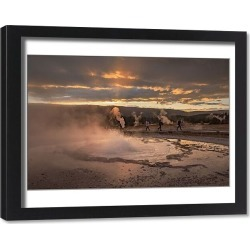 Framed Print. USA, Wyoming, Yellowstone, National Park, UNESCO, World Heritage